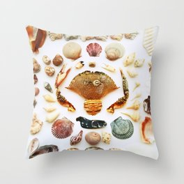 Barnacle on Board Throw Pillow
