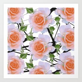 Florals & Swiggles Art Print