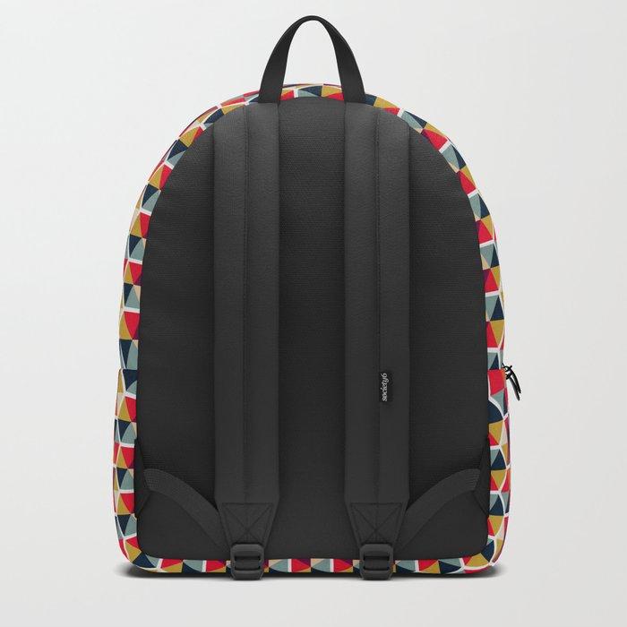 Colorful Umbrellas Geometric Pattern Backpack