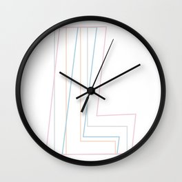 Intertwined Strength and Elegance of the Letter L Wall Clock