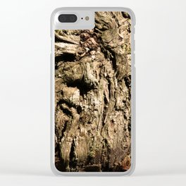 Face on a Tree Clear iPhone Case