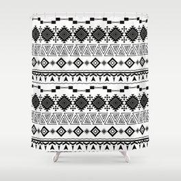 Aztec black white pattern. Shower Curtain