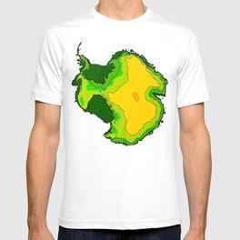 Antarctica Topographical Map T-shirt