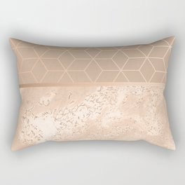 MARBLE HAZELNUT ROSEGOLD & HEXAGONAL Rectangular Pillow