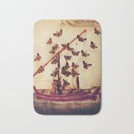 The Poetry Of Butterflies Bath Mat