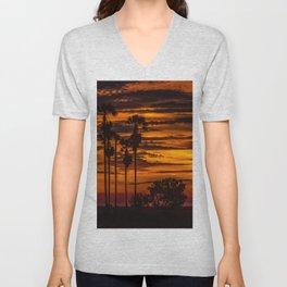 Cambodian Sunset Unisex V-Neck