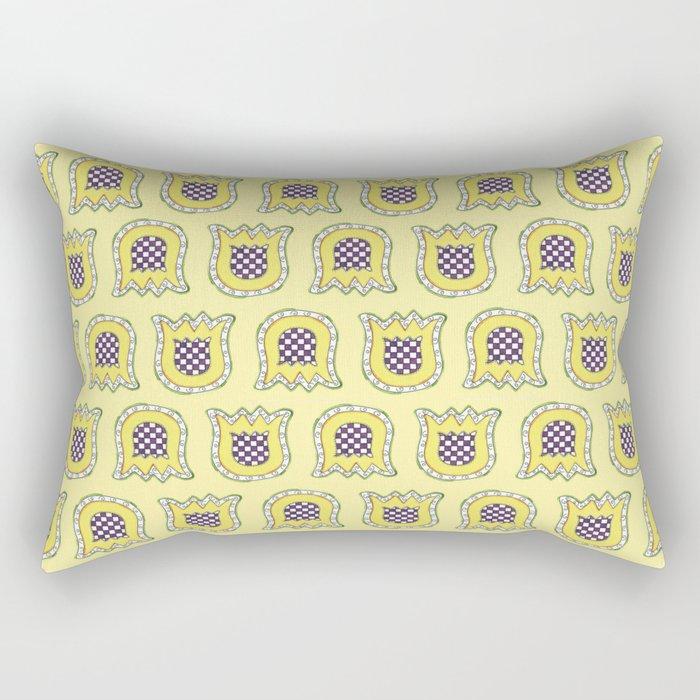 Topsy Turvy Tulips Rectangular Pillow