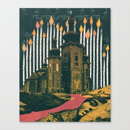 Sleep, those little slices of death Canvas Print