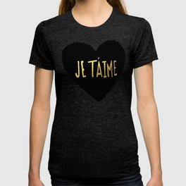 je t'aime x heart T-shirt