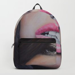Adriana Lima Oil on Canvas Portrait Backpack
