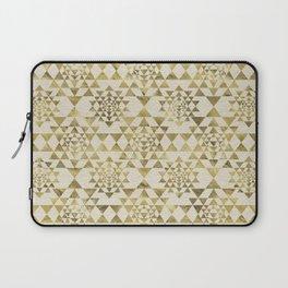 Sri Yantra  / Sri Chakra Pattern - Gold pastel Laptop Sleeve