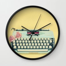 The Typewriter Wall Clock