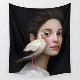 Miss Stork Wall Tapestry