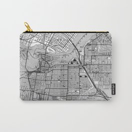 Vintage Map of Ottawa Canada (1915) BW Carry-All Pouch