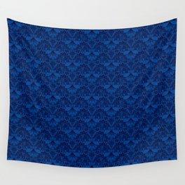 Stegosaurus Lace - Blue Wall Tapestry
