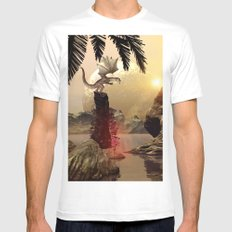 Dragon Mens Fitted Tee White MEDIUM