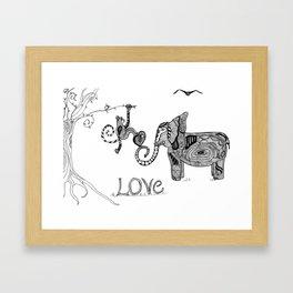 monkey love Framed Art Print
