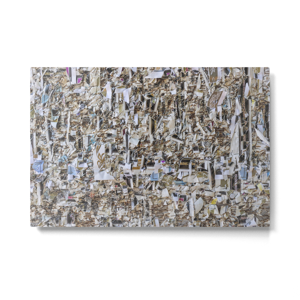 Texture Of Paper Shredded Wall Metal Print by bzzup (MTP7942930) photo
