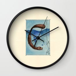 Animal's Alphabet - C for 'Castoro' Wall Clock