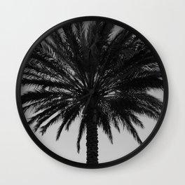 Big Black and White Palm Tree Wall Clock