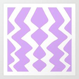 Purple Zig-Zag Design Art Print
