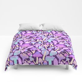Spooky Mushroom Hunt Comforters