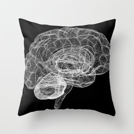 DELAUNAY BRAIN b/w Throw Pillow