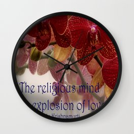 The Religious Mind, Explosion of Love - Quote Wall Clock