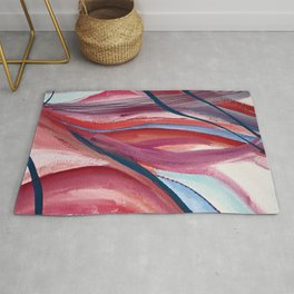 Carnival Candy: a vibrant, colorful abstract piece in pinks and blues by Alyssa Hamilton Art Rug