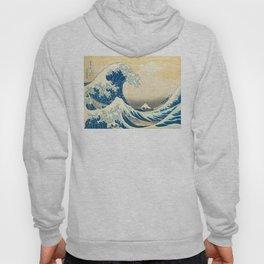 Japanese Woodblock Print The Great Wave of Kanagawa by Katsushika Hokusai Hoody