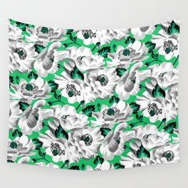 Mount Cook Lily - Green/White Wall Tapestry