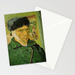 SELF PORTRAIT WITH BANDAGED EAR - VAN GOGH  Stationery Cards