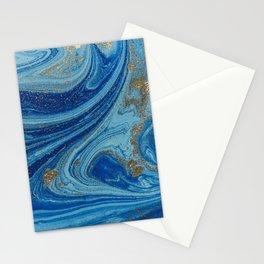 Blue & Gold Glitter Stationery Cards