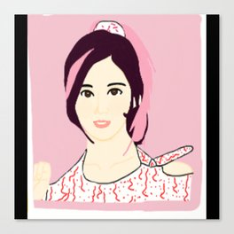 Knock Knock! Sana Pink Canvas Print
