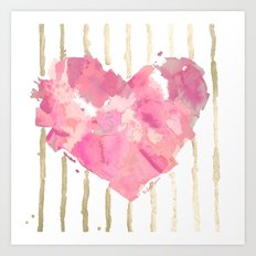 Je t'aime Light Pink Art Print