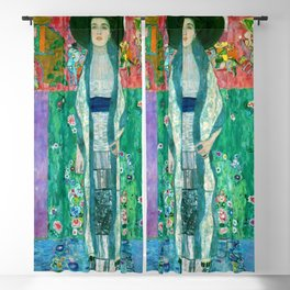 "Gustav Klimt ""Portrait of Adela Bloch-Bauer"" II Blackout Curtain"