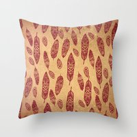 nick cave Throw Pillows featuring golden cave by ECSTATIC