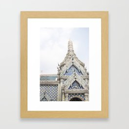 Painted Tiles in the Grand Palace Framed Art Print