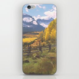 Autumn in the San Juan Mountains of Colorado - Watercolor Effect iPhone Skin
