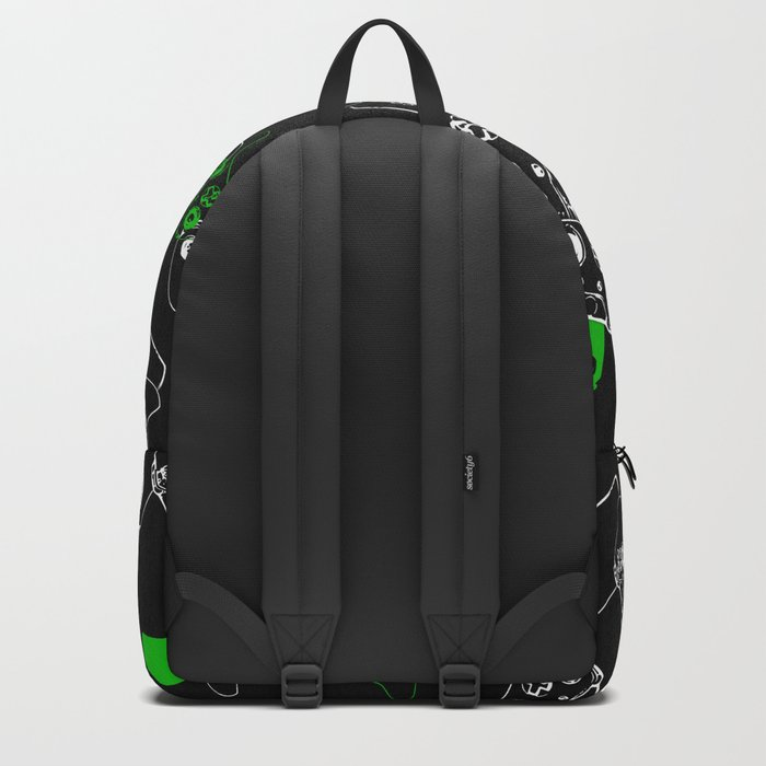 Video Game Black & Green Backpack