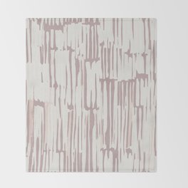 Simply Bamboo Brushstroke Lunar Gray on Clay Pink Throw Blanket
