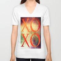 xoxo V-neck T-shirts featuring XoXo by Fine2art