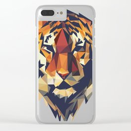 HEAD TIGER LOWPOLY STYLE Clear iPhone Case