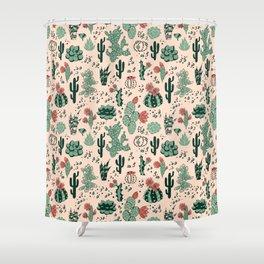 Succulent Desert Shower Curtain