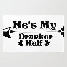He's My Drunker Half Funny St. Patrick's Day Gift Rug