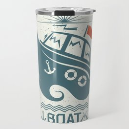 Brave small boat print Travel Mug