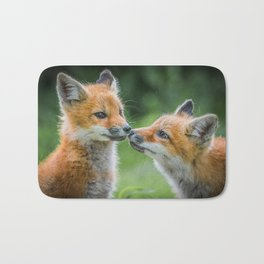 Fox cubs Bath Mat