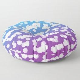 Blurry Snowflakes: Blue & Purple Floor Pillow