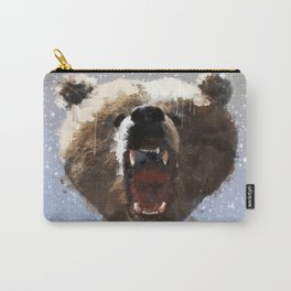 Grizzly Bear Face - Watercolor Carry-All Pouch
