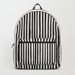 Skinny Stroke Vertical Black on Off White Backpack